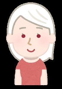アルビノの女性のイラスト(赤い目)