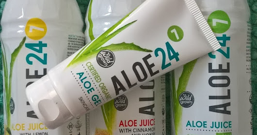 aloe 24-7 juice drink review / aloe gel review / natural / sensitive skin / eczema