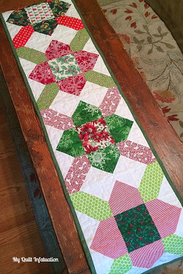 Quilt Inspiration Free Pattern Day Christmas Table Runners