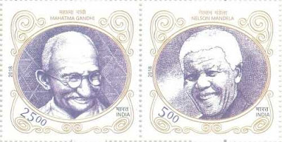 Postage Stamps by India and South Africa