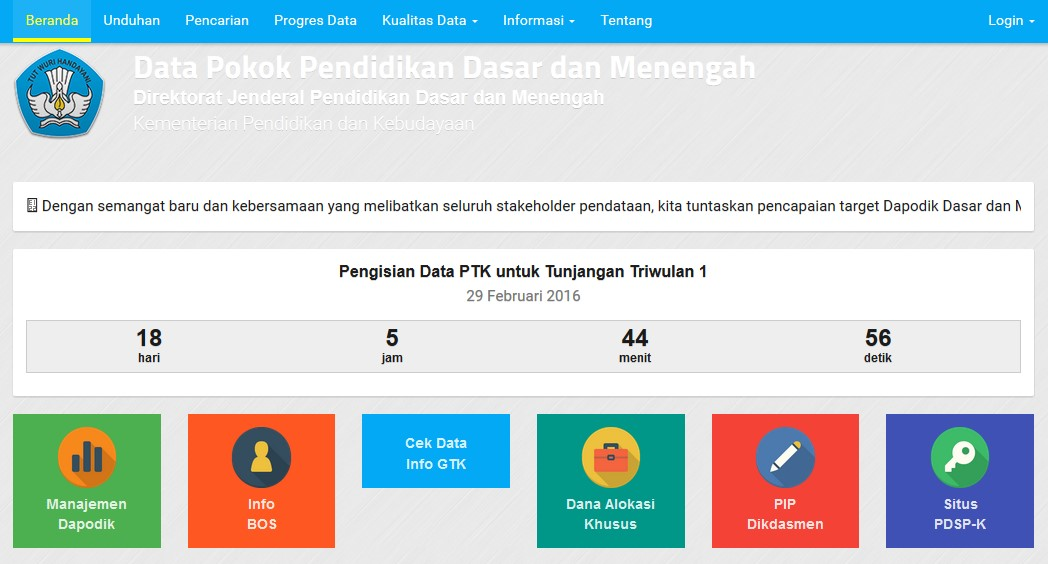 Data Dikdasmen Kemdikbud Go Id Download Lengkap