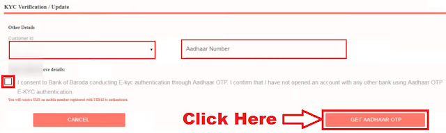 How to Link Bank of Baroda Account to Aadhar Card Online