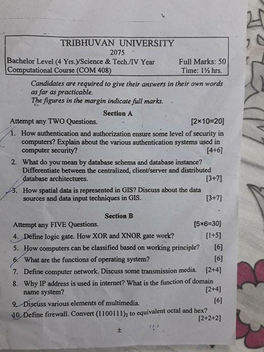 Computational Course (COM 408)