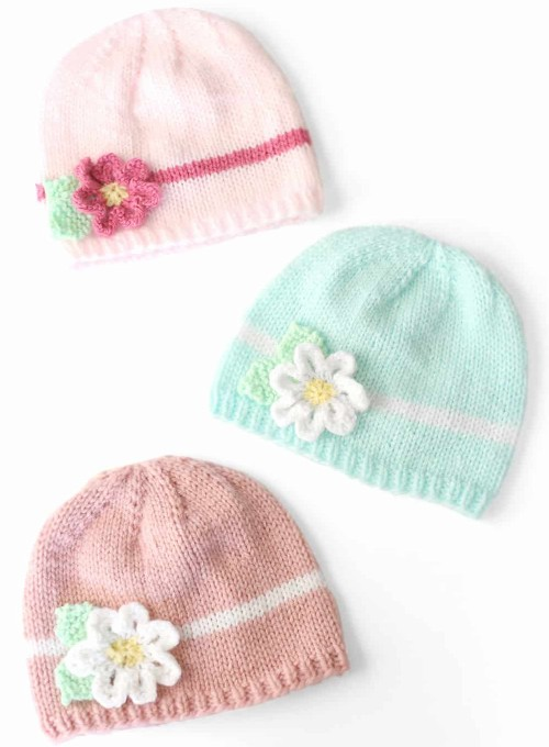 Spring Daisy Hat - Free Knitting Pattern