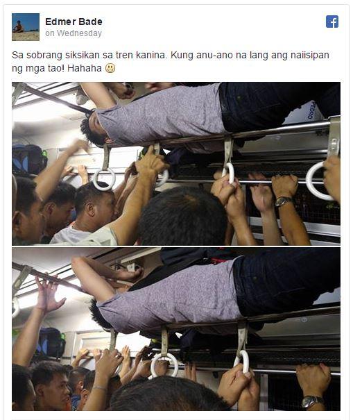 orang gokil tiduran di dalam commuter line