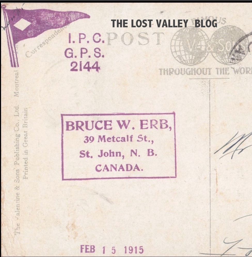bruce w erb saint john philatelist 1915