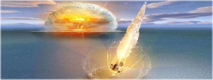 dois asteroides atingiram a Terra ao mesmo tempo
