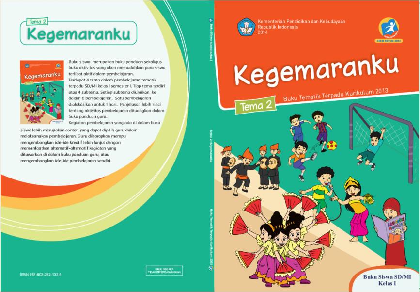 Download Buku Tematik Kurikulum 2013 SD/MI Kelas 1 Tema 2 Kegemaranku Edisi Revisi  Format PDF