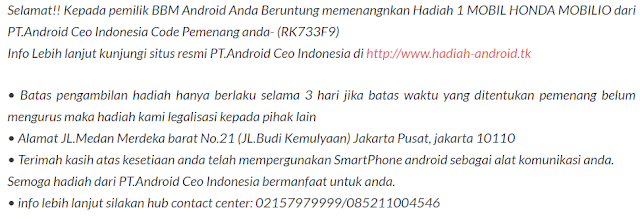 penipuan pt android ceo indonesia