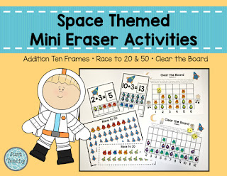 Mini Eraser Activities, Space Themed