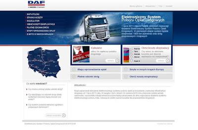 Wykaz płatnych dróg - strona DAF