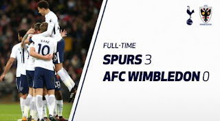Tottenham Hotspur vs AFC Wimbledon 3-0 Video Gol & Highlights.