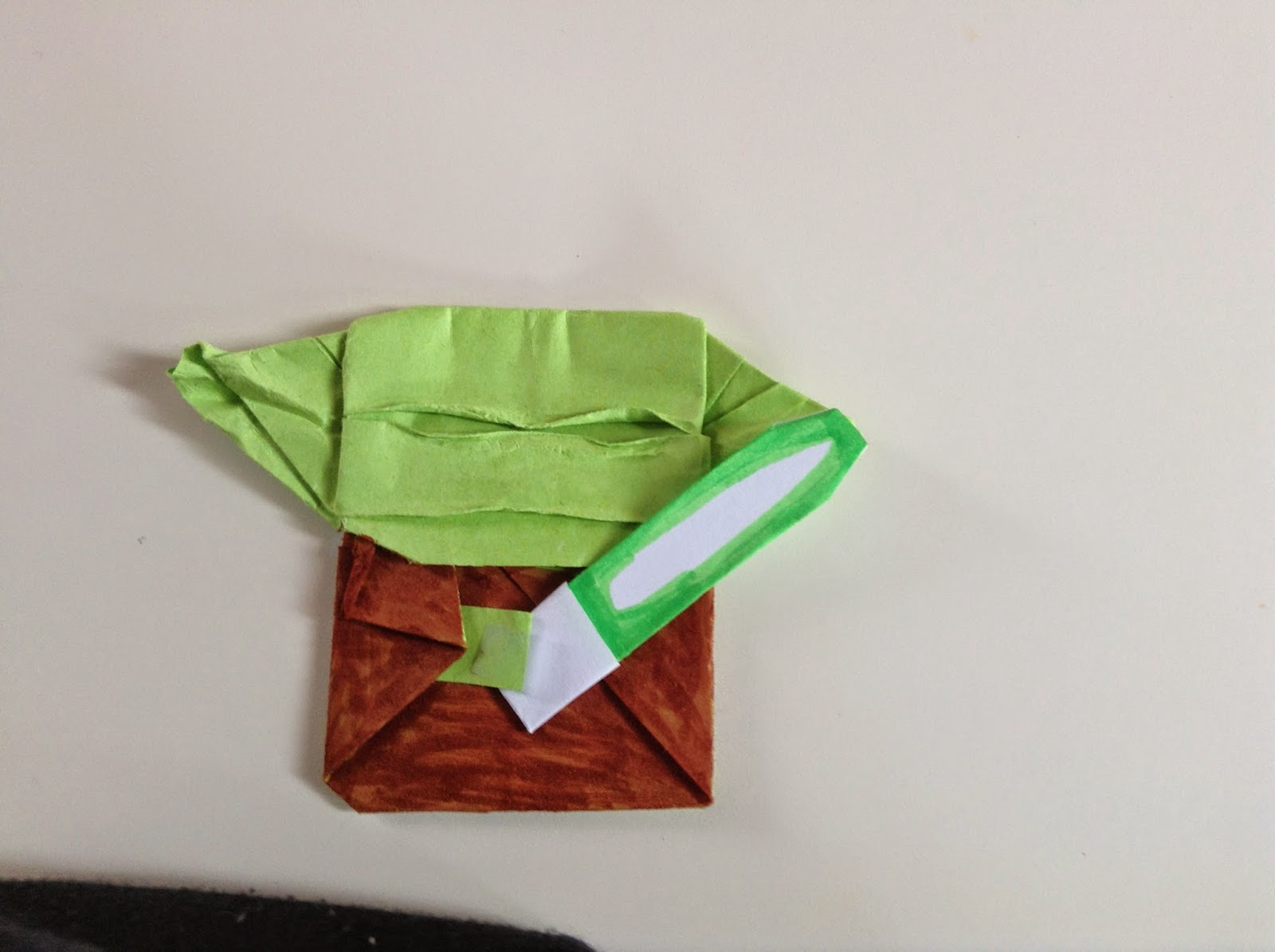 Updated Easy Cover Yoda Instructions | Origami Yoda | 1195x1600