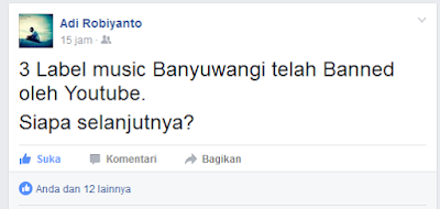3 Channel Label Musik Banyuwangi di Banned Youtube