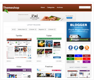 theme shop free blogger theme