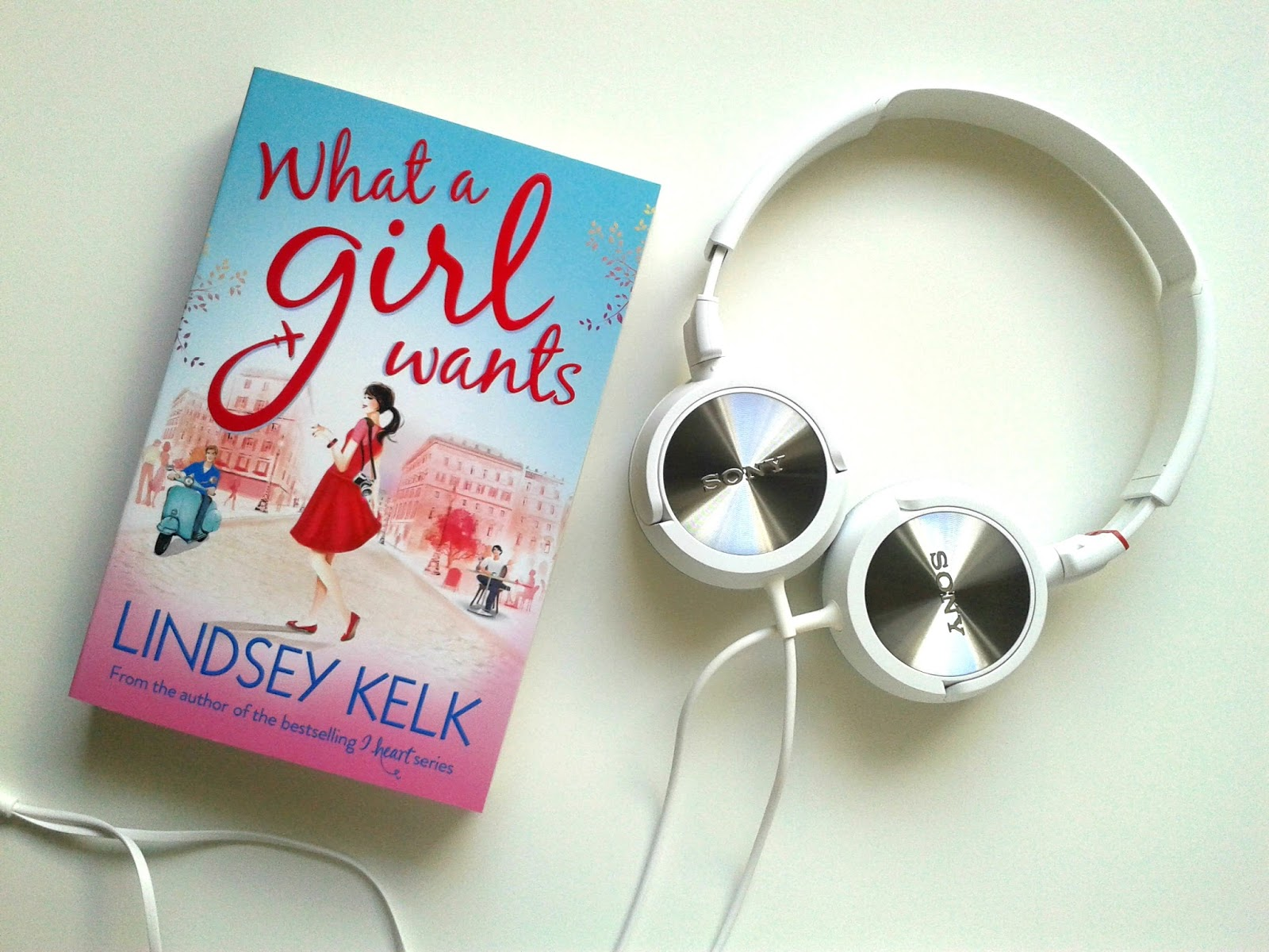 My Long Haul Flight Essentials Beauty Review Sony White MDR-ZX100W Outdoor Headband Headphones What A Girl Wants by Lindsey Kelk