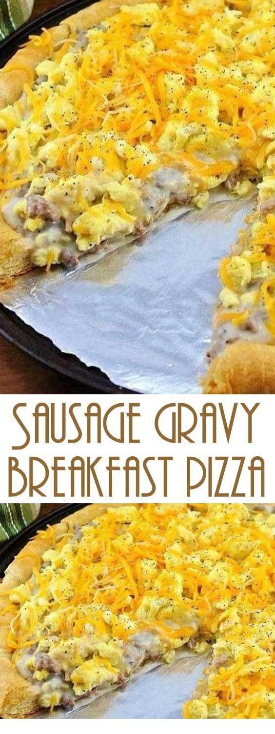Sausage Gravy Breakfast Pizza