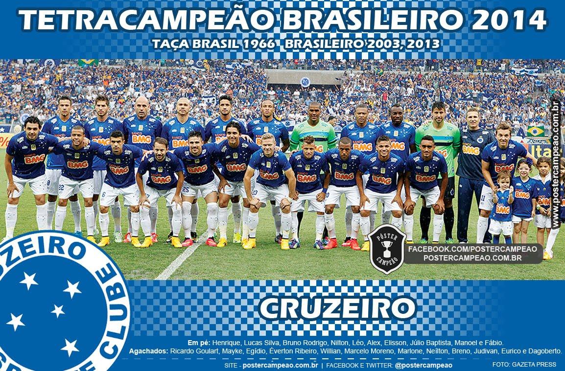 Pôster Campeão  Pôster Cruzeiro Tetracampeão Brasileiro 2014 66d2a7dbe9372