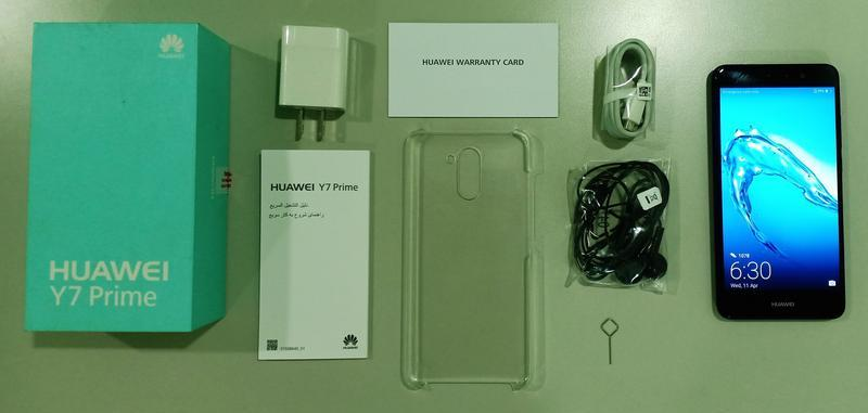 Huawei Y7 Prime Retail Package