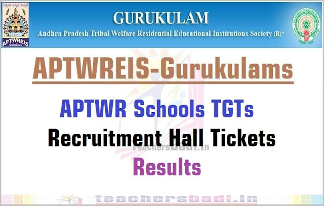 APTwreis,TGTs Recruitment,Hall Tickets,Results