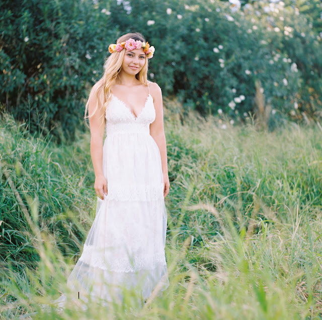 bride in claire pettibone dress