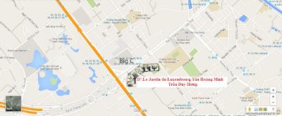 Vị trí dự án Tân Hoàng Minh Trần Duy Hưng