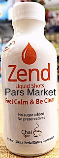 Zend Brand Liquid Shot with New Chai Spice Flavor New Glass bottle shot at Pars Market Howard County Columbia Maryland 21045