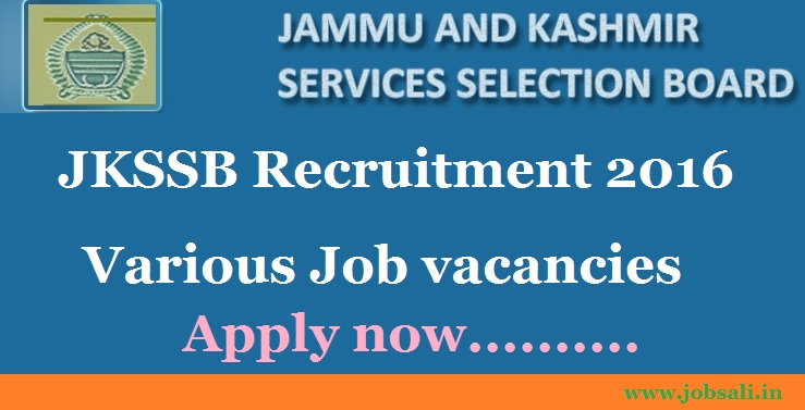 JKSSB Notification, jkssb.nic.in, SSC Recruitment