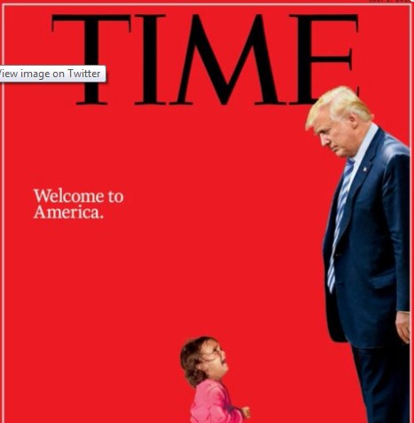 Donald Trump And Immigrant Girl