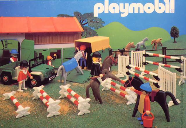 Playmobil 3305 Jinetes de Hípica Horse and Raiders 2 Reiter 1 Pferd
