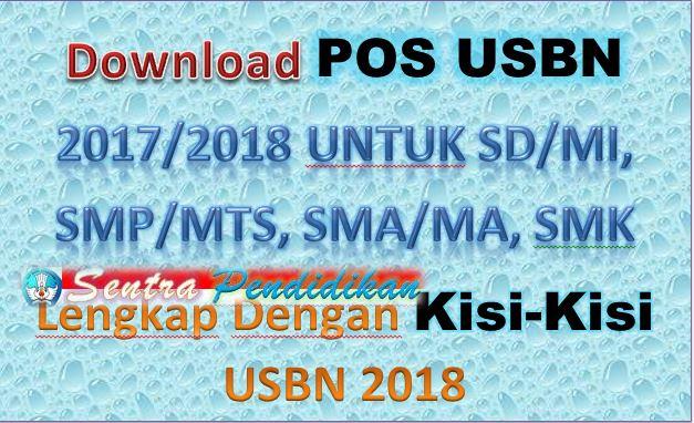 Download POS USBN 2017/2018 untuk SD/MI, SMP/MTs, SMA/MA, SMK Lengkap Dengan Kisi-Kisi USBN 2018