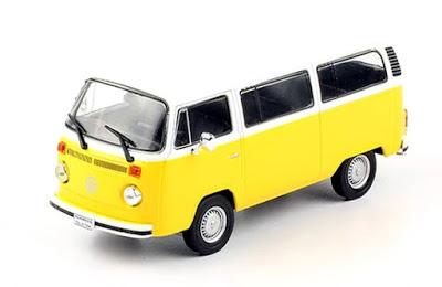 Volkswagen T2 1973 autos a escala