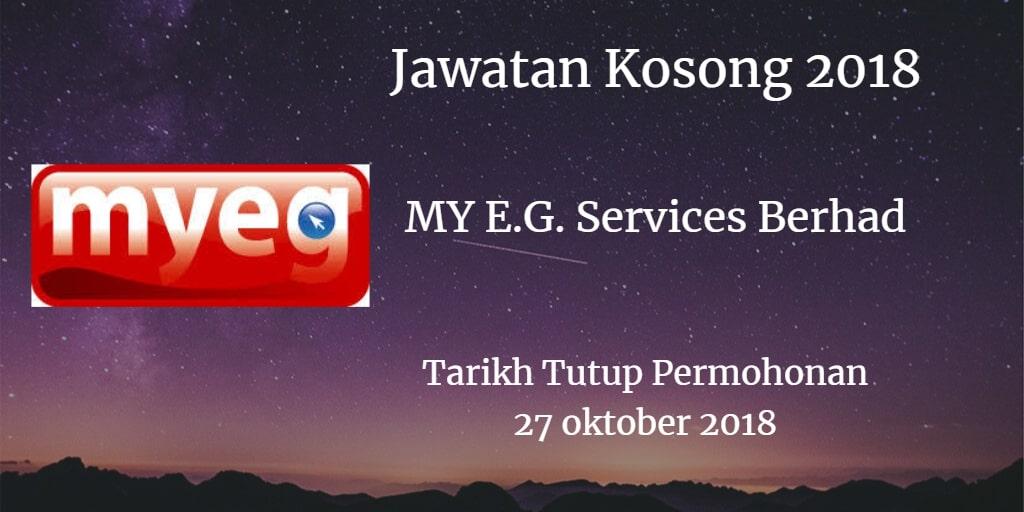 Jawatan Kosong MY E.G. Services Berhad 27 Oktober 2018