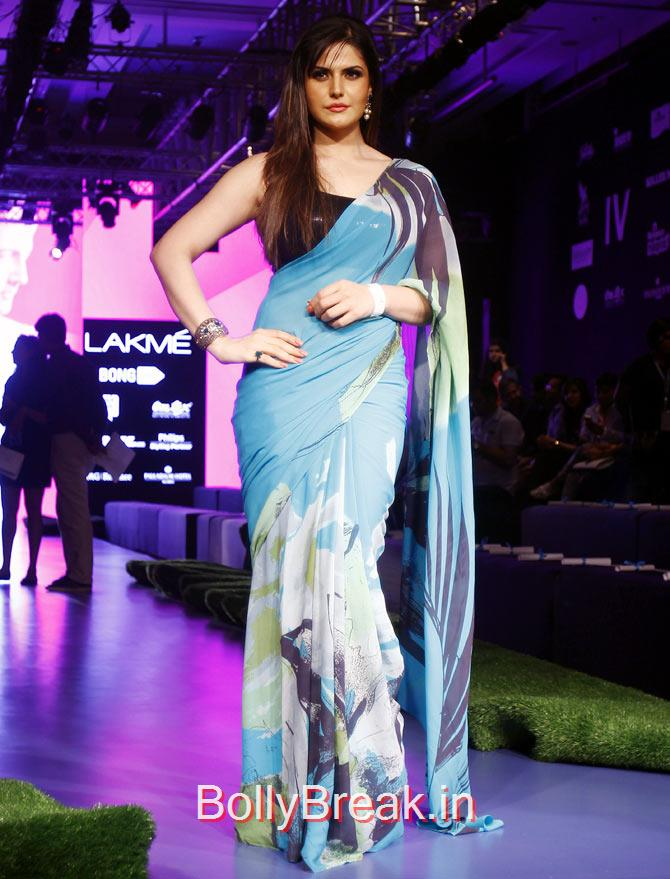 Zarine Khan, Bollywood Celebs Pics from Lakme fashion Week 2015 Day 3