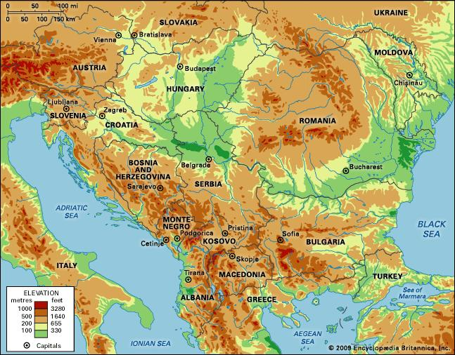 Cartina Fisica Europa Balcanica.Ripasso Facile Riassunto Regione Balcanica