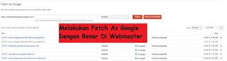 Terbaru Cara Fetch As Google Agar Artikel Cepat Terindex Di Mesin Penelusuran.