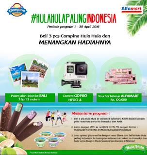 Undian Campina di Alfamart Berhadiah Liburan Ke Bali, GO PRO Hero dan Voucher Belanja