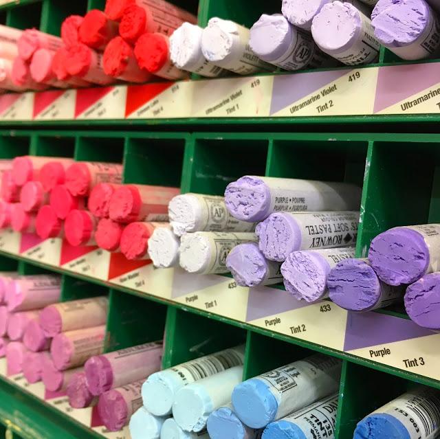 pastels, art materials, art shop, artist, rainbow