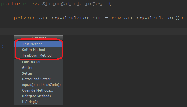 HOW-TO: Customize code templates for JUnit 4 test, setup and