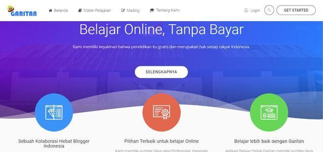 garitan aplikasi belajar online gratis tempat belajar gratis untuk siswa smp/mts, mma/sma maupun smk