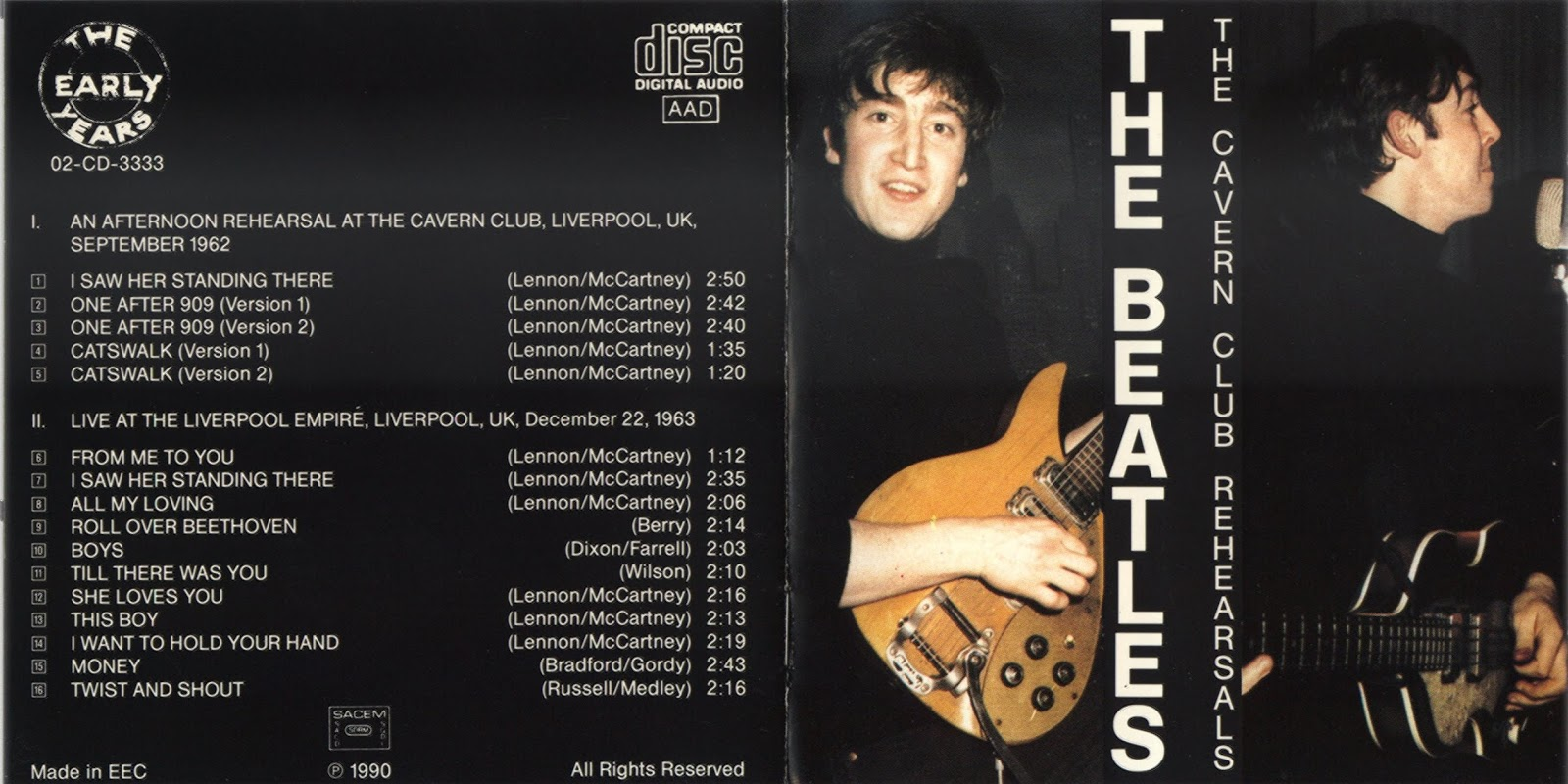 RELIQUARY: Beatles, The - The Cavern Club Rehearsals [FLAC +