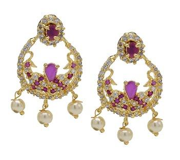 Kollam Supreme Premium Fashion Jewellery Gold Plated Cz S Ruby