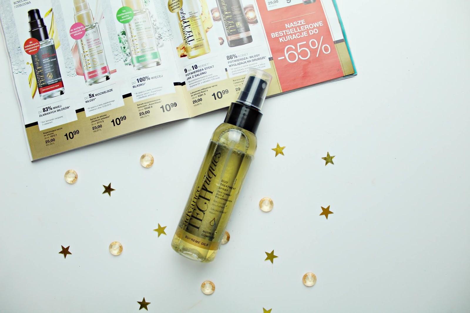 luksusowy odżywczy spray do włosów avon nutri5