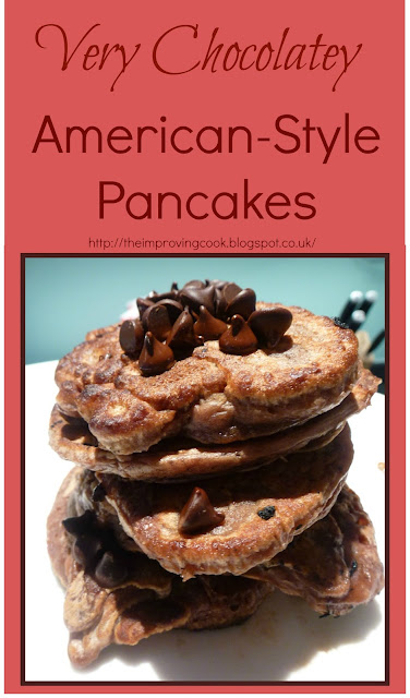 The Improving Cook- Very Chocolatey American Pancakes