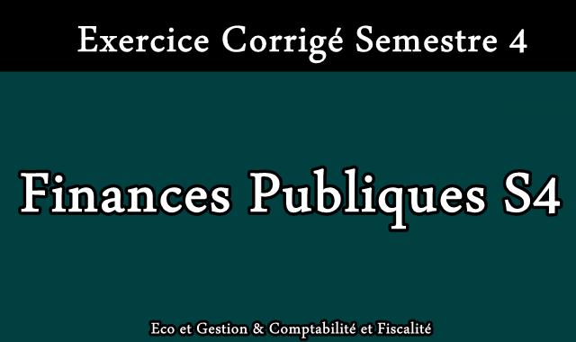 Exercices Corrigés Finances Publiques