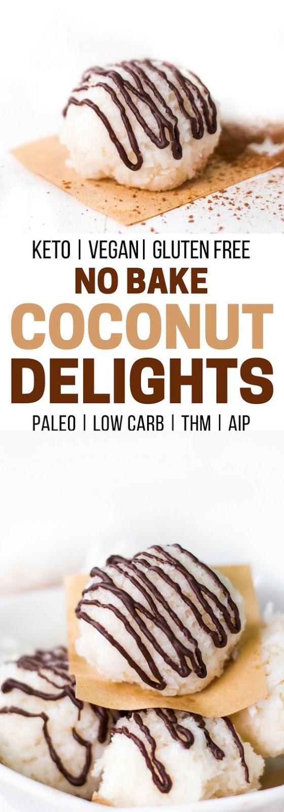 No Bake Coconut Cookies  Coconut Delights – paleo, vegan, low carb, keto, AIP