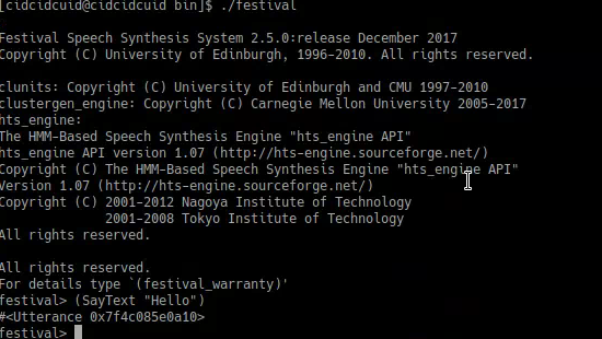Installing festival in archlinux - general multi-lingual speech synthesis system