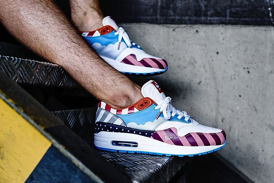 f46887c96d955 Parra and Nike s highly-anticipated Air Max 1 and Zoom Spiridon models  dropped over the weekend. Solebox Berlin was one of the select retailers  that carried ...