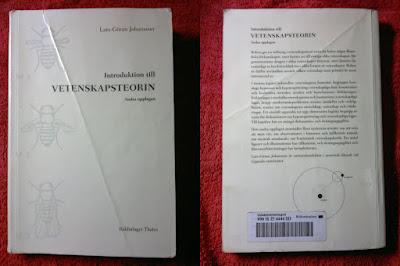 Introduktion till VETENSKAPSTEORIN Andra upplagen, författare Lars-Göran Johansson