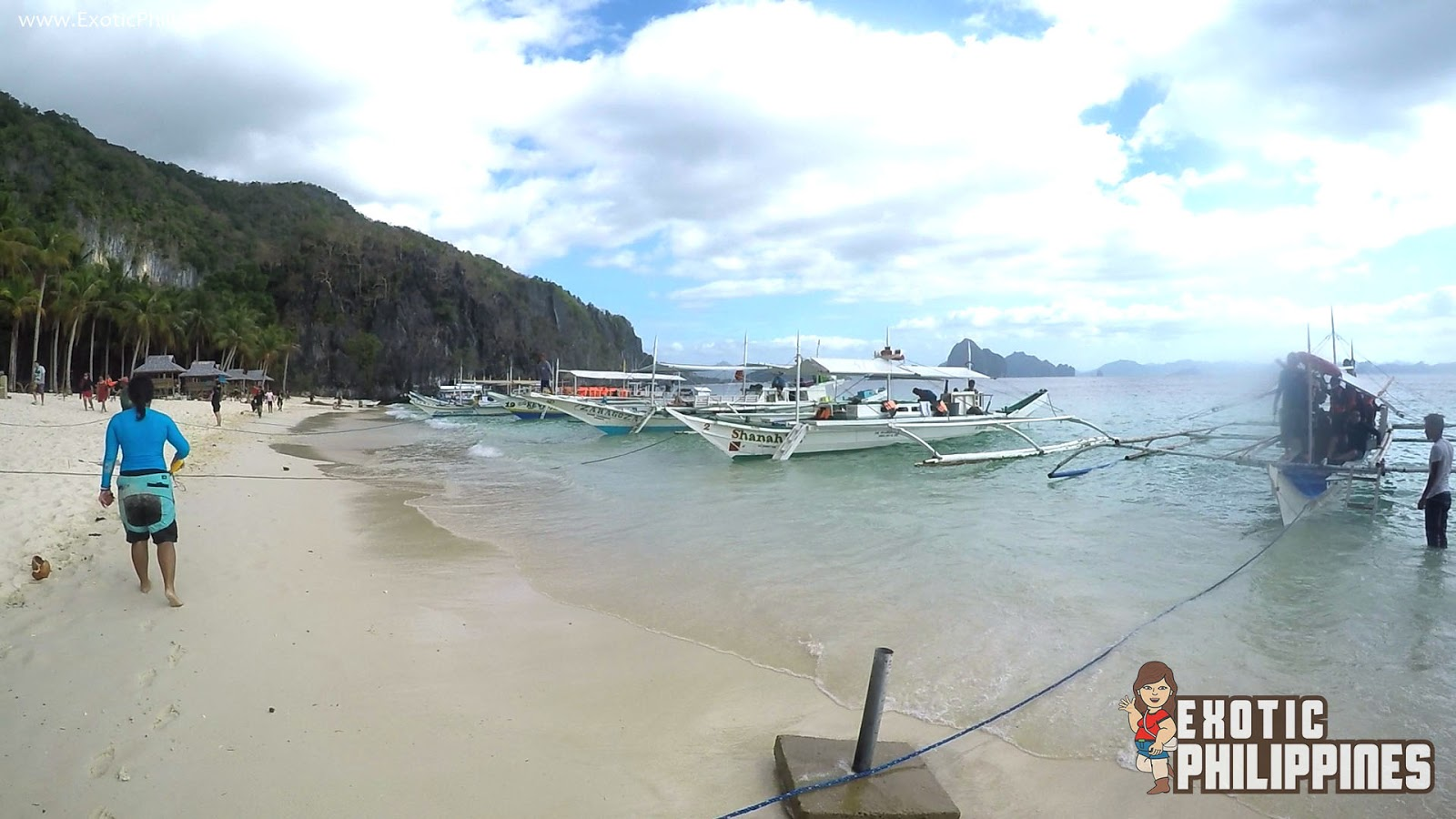 Chilling at the 7 Commandos Beach El Nido Palawan Exotic Philippines Travel Blog Blogger